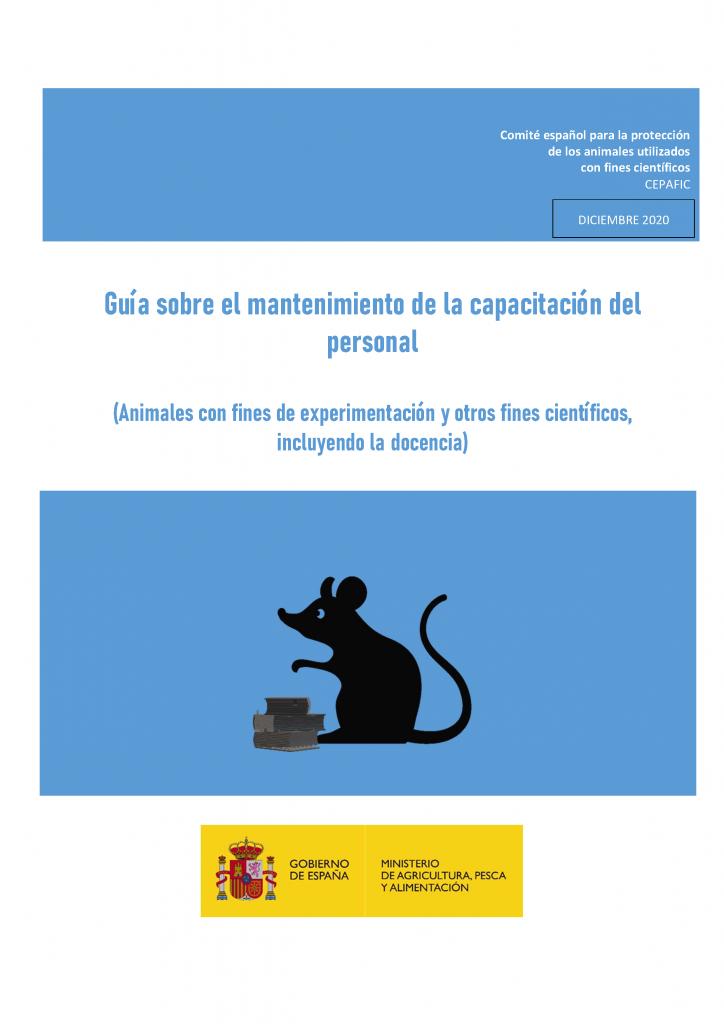 guia sobre mantenimiento de la capacitación experimentación animal